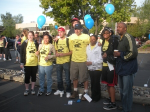 "May 2010 - The beginning of the ten mile walk for homeless teens in support of the Jimmy Wayne ""Meet Me Halfway"" program. That's Tom Mailey of the Pat and Tom show in the KNCI hat....Tom has more energy in his pinky finger than I have in my entire body!"